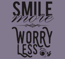 Smile more worry less Kids Tee