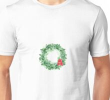 Watercolor Christmas wreath Unisex T-Shirt