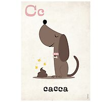 C is for Cacca Photographic Print