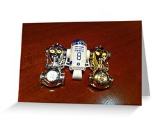 R2D2 and C3PO Greeting Card