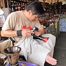 Carve Artist @ Kauai fleemarket by HanieBCreations