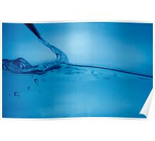 Acqua blu Poster