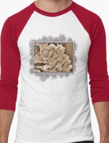 Peony named Shirley Temple Men's Baseball ¾ T-Shirt