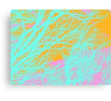 Abstract Veins- Pastel Canvas Print