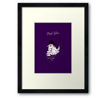 Purple Wren Framed Print