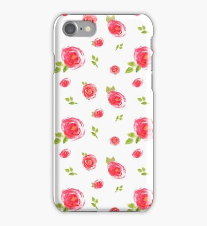 red watercolor roses iPhone Case/Skin