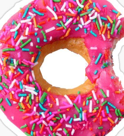 Dark Pink Doughnut Sticker