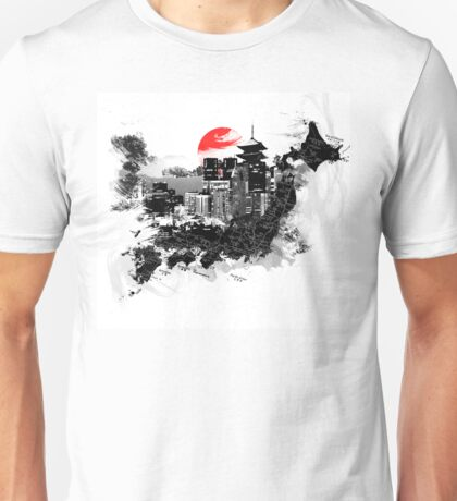 Abstract Japan - Shinjuku, Kyoto Unisex T-Shirt