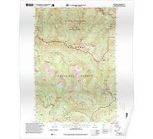USGS Topo Map Oregon High Rock 280205 1997 24000 Poster