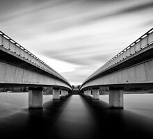 Commonwealth Bridge (Black and White) by Richard Lam