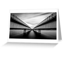 Commonwealth Bridge (Black and White) Greeting Card