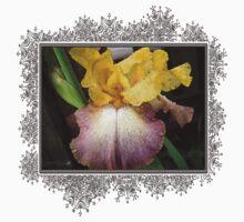 Tall Bearded Iris named Butterfingers One Piece - Long Sleeve