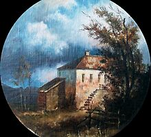 """""""Before The Storm"""".The copy from picture of Savrasov by Alla Melnichenko"""