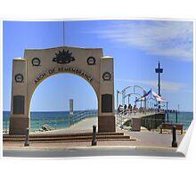 Australia Day  - Brighton Jetty, South Australia Poster
