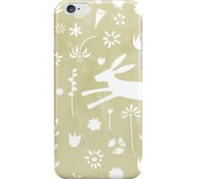 Hare in the Meadow iPhone Case/Skin