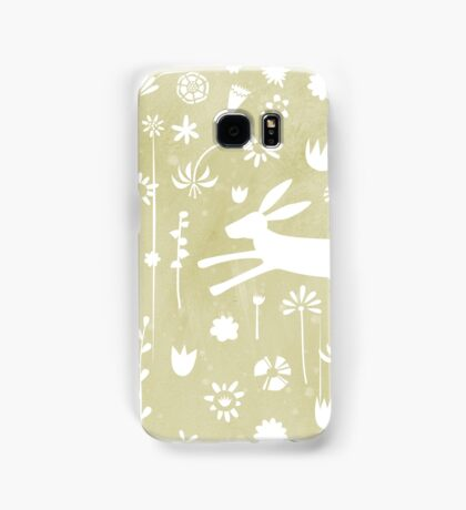 Hare in the Meadow Samsung Galaxy Case/Skin