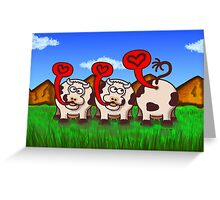 Loving Cows Greeting Card