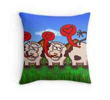 Loving Cows Throw Pillow
