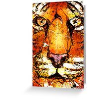 Scribble Tiger Greeting Card