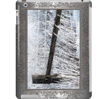 Hoar Frost on the Fence iPad Case/Skin