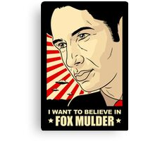 FOX MULDER BELIEVE Canvas Print