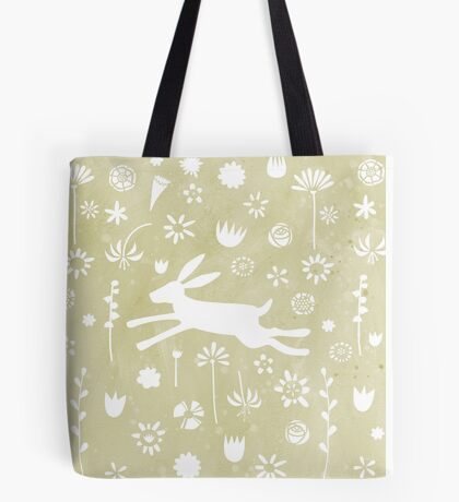 Hare in the Meadow Tote Bag
