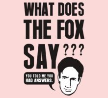 Fox Mulder - What Does The Fox Say Kids Clothes