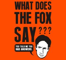 Fox Mulder - What Does The Fox Say Kids Tee