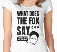 Fox Mulder - What Does The Fox Say Women's Fitted Scoop T-Shirt