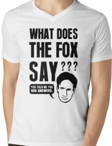 Fox Mulder - What Does The Fox Say Mens V-Neck T-Shirt