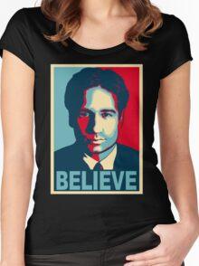 FOX MULDER BELIEVE Women's Fitted Scoop T-Shirt