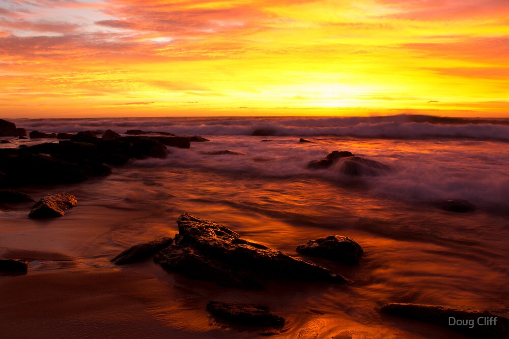 Turrimetta beach sunrise by Doug Cliff
