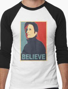 FOX MULDER BELIEVE Men's Baseball ¾ T-Shirt