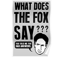 Fox Mulder - What Does The Fox Say Poster