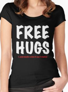 Free Hugs And Kisses Women's Fitted Scoop T-Shirt