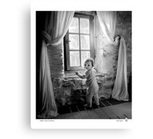 Willow, winter in Provence Canvas Print