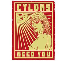 Cylons need you Photographic Print