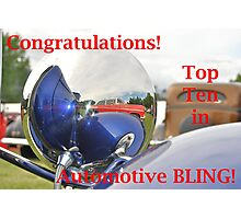 Automotive BLING! Top Ten Banner Photographic Print