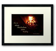 tale of fire Framed Print