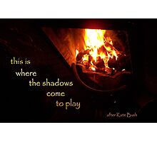 tale of fire Photographic Print