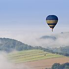 Hot Air Balloon in Derbyshire by Oaktreephoto