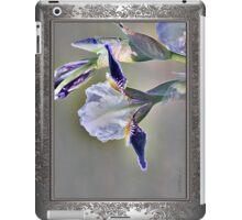 Miniature Tall Bearded Iris named Consummation iPad Case/Skin