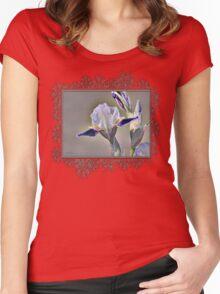 Miniature Tall Bearded Iris named Consummation Women's Fitted Scoop T-Shirt
