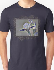 Miniature Tall Bearded Iris named Consummation Unisex T-Shirt