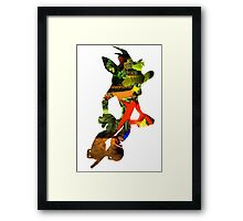 Crash Bandicoot in Pogo Framed Print