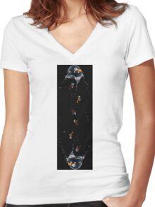 Rebel Rain Women's Fitted V-Neck T-Shirt