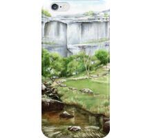 'Malham Cove', North Yorkshire - Watercolours. iPhone Case/Skin