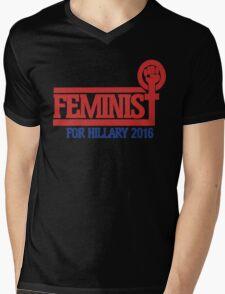 Feminist for Hillary 2016 Mens V-Neck T-Shirt