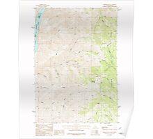 USGS Topo Map Idaho Monroe Butte 237204 1987 24000 Poster