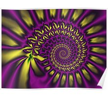 The purple / yellow spiral Poster